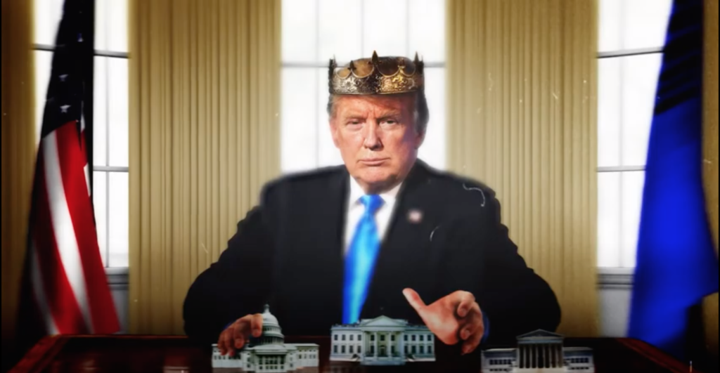 trump acts like he is a king